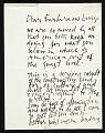 View Letter from Abraham Rattner to Lawrence and Barbara Fleischman digital asset number 0