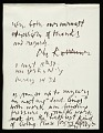 View Letter from Abraham Rattner to Lawrence and Barbara Fleischman digital asset number 1