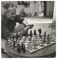 View Truman Bailey polishes chess men. digital asset number 0