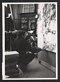 View Sam Francis in his Paris studio, working on his painting titled <em>Painting</em> digital asset number 0