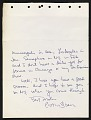 View Peter Dean letter to Darthea Speyer, Paris, France digital asset: verso