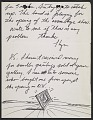 View Llyn Foulkes letter to Darthea Speyer digital asset number 1