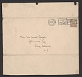 View Alfred Frueh Christmas card to Mr. and Mrs. Wood Gaylor digital asset: envelope