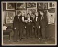 View Photograph of Wood Gaylor, Mayor Fiorello La Guardia, and others at the opening of Salons of America exhibition digital asset: front
