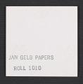 View Photograph of Jan Gelb, printing digital asset: verso