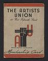View Harry Gottlieb's Artists' Union membership card digital asset number 0