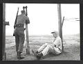 View John Groth sketching at the Korean truce line digital asset number 0