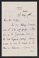 View Francis Seymour Haden letter to Frederick Keppel digital asset: page