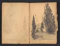 View Ellen Day Hale sketchbook digital asset: pages 12