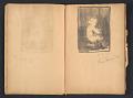 View Ellen Day Hale sketchbook digital asset: pages 18