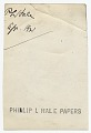 View Portrait of Philip Leslie Hale digital asset: verso