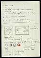 """View Frederick Hammersley notes on """"An idea"""" digital asset number 0"""