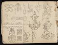 View William Michael Harnett sketchbook digital asset: sketch 24