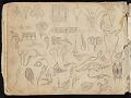 View William Michael Harnett sketchbook digital asset: sketch 28