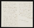 View Albert Bierstadt, New Bedford, Mass. letter to John Durand, New York, N.Y. digital asset: verso