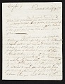 View John Singleton Copley letter to unidentified recipient, Florence, Italy digital asset number 0