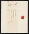 View G. (George) Cooke, Raleigh, N.C. letter to John Trumbull, New York, N.Y. digital asset number 2