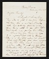 View Thomas Crawford, Bordentown, N.J. letter to Robert E. Launitz, New York, N.Y. digital asset number 0