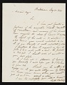 View Chester Harding, Baltimore, Md. letter to Asher Brown Durand, New York, N.Y. digital asset number 0