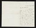 View John Frederick Kensett, Newport, R.I. letter to Asher Brown Durand digital asset number 0