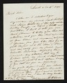 View Thomas Bayley Lawson, Paris, France letter to Benjamin Poore, Lowell, Mass. digital asset number 0