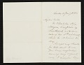 View Benjamin Moran, London, England letter to unidentified recipient, New York, N.Y. digital asset number 0