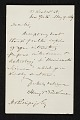 View Henry T. (Henry Theodore) Tuckerman, New York, N.Y. letter to unidentified recipient digital asset number 0