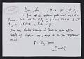 View Daniel Daligand Mail Art to John Held digital asset: verso