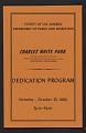 View Program for the dedication of Charles White Park digital asset number 0