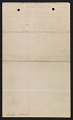 View Winslow Homer letter to Louis Prang digital asset: verso