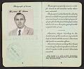 View Walter Horn's passport digital asset: pages 3