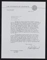 View Robert Gordon Sproul letter to Walter William Horn digital asset number 0