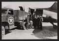View Soldiers standing by a truck and plane at Munich airport digital asset number 0