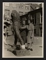 View Rose Valland and Edith Standen inspecting a statue at Wiesbaden Collecting Point digital asset number 0
