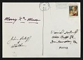 View Unidentified sender christmas card to David Ireland digital asset: verso
