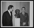 View Photograph of Richard Burton and Paul Jenkins with bust of Dylan Thomas digital asset number 0