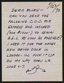 View Claes Oldenburg letter to Ellen H. Johnson digital asset number 0