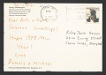 View Michael Clark, New York, N.Y. christmas card to Jacob Kainen, Chevy Chase, Md. digital asset: verso