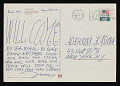 View Jonas Mekas postcard to Aleksandra Kasuba, New York, N.Y. digital asset: postcard back