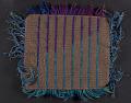 View Glen Kaufman handwoven knotted pile rug sample digital asset: verso