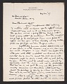 View Max Weber, Long Island, N.Y. letter to Rockwell Kent, Ausable Forks, N.Y. digital asset number 0