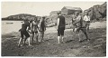 View Rockwell Kent and friends playing ball on the beach digital asset number 0