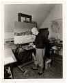 View Rockwell Kent working on a painting digital asset number 0