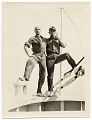 View Rockwell Kent and Ole Ytterock on a boat to Tierra Del Fuego digital asset number 0