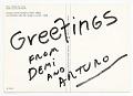 View Arturo Rodríguez Christmas card to Helen L. Kohen digital asset: verso