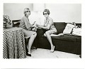 View Joan Kron and Audrey Sabol seated during a NY times interview digital asset number 0