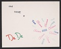View Denise Browne Hare Christmas card to Katharine Kuh digital asset: verso