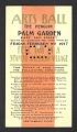 View Arts ball, the Penguin, Palm Garden ... gentlemen's ticket digital asset number 0