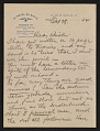View Walt Kuhn, Paris, France letter to Vera Kuhn, Chevy Chase, Md. digital asset: page 1