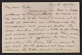 View Arthur B. Davies letter to Walt Kuhn digital asset number 0